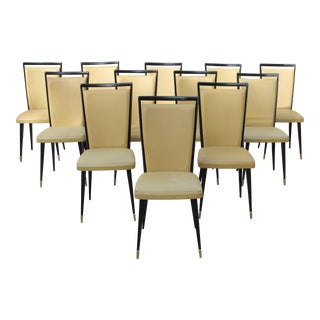 Stunning French Art Deco Dining Chairs, Circa 1940s - set of 12 For Sale