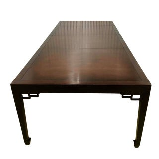 1990s Asian Baker Furniture Far East Collection Dining Table For Sale