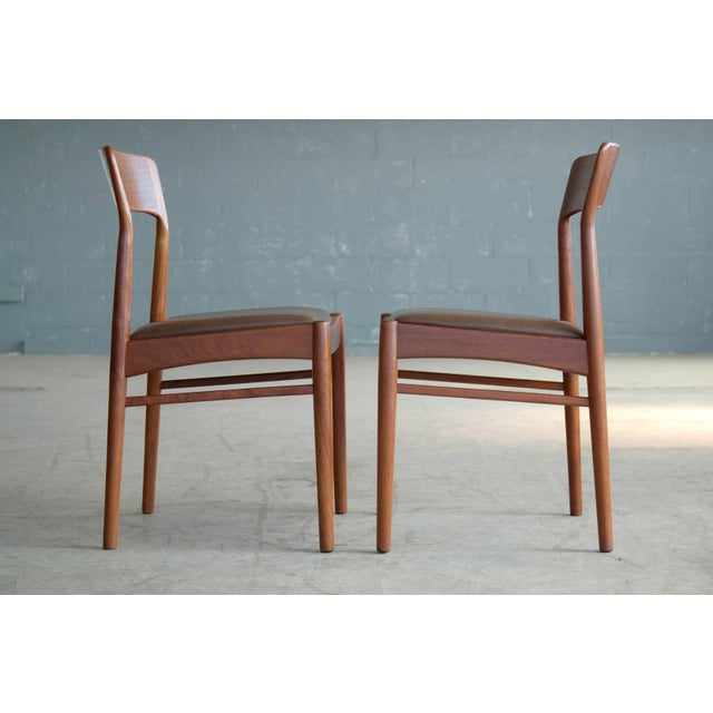 Set of Six Dining Chairs in Teak by Kai Kristiansen for k.s. Mobler Denmark, 1960s For Sale In New York - Image 6 of 10