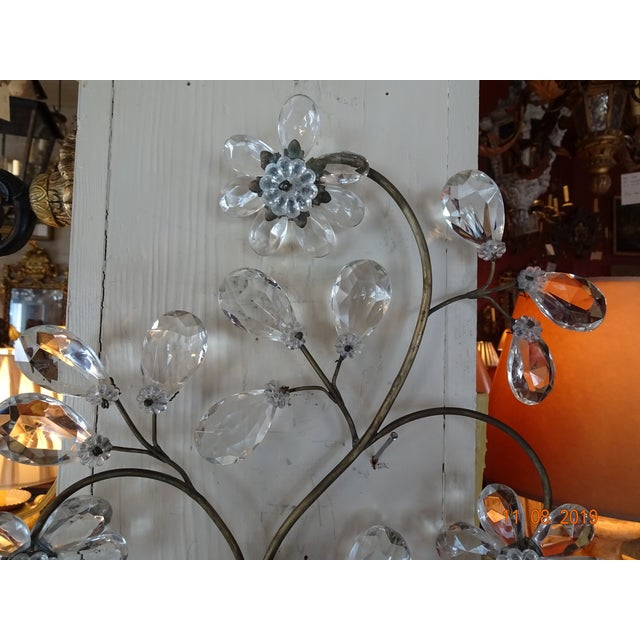 Metal Pair of 19th Century Italian Crystal Sconces For Sale - Image 7 of 12
