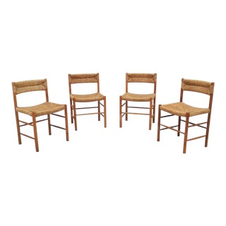 "Charlotte Perriand ""Dordogne""Oak Dining Chairs - Set of 4"