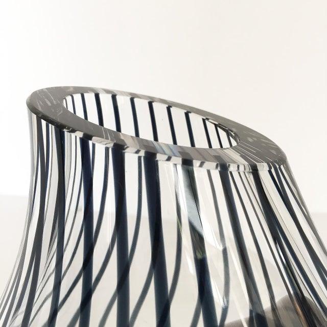 Livio Seguso Striped Murano Glass Vase For Sale - Image 10 of 13