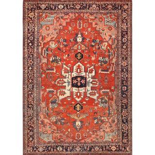 Large Antique Serapi Persian Rug - 12′ × 17′6″ For Sale