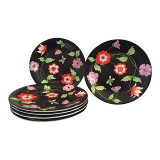 Vintage Italian Hand-Painted Porcelain Plates - Set of 6 For Sale