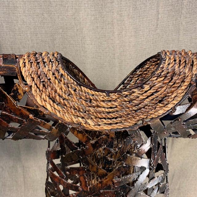 Metal Palecek Kimono Figurine on Stand For Sale - Image 7 of 13