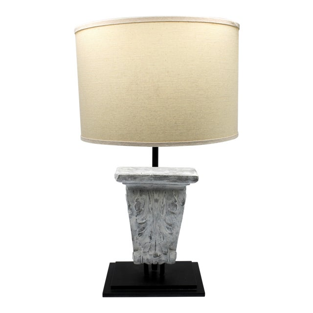 Architectural Restoration Hardware Style Corbel Lamp For Sale