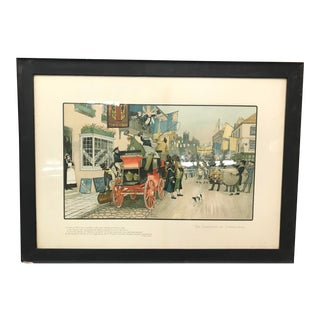 Vintage Mid-Century British Election Day Lithograph Print For Sale