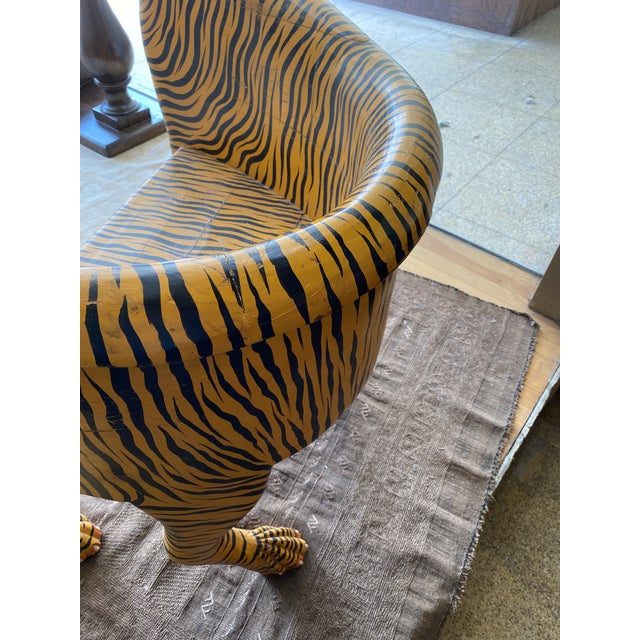 Yellow 1970's Vintage Tiger Tub Chair For Sale - Image 8 of 13