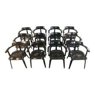Mid-Century Modern W199 Chairs by Walter Gropius for Thonet Bauhaus - Set of 12 For Sale