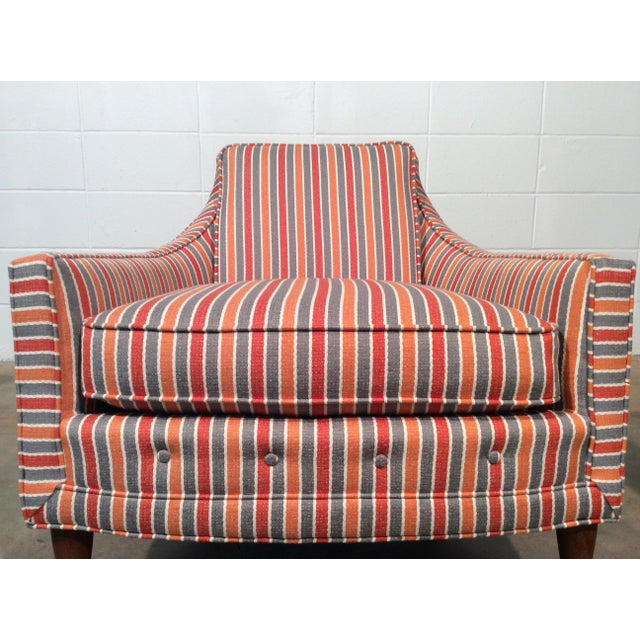 Mid Century Low Back Lounge Chairs - a Pair For Sale - Image 10 of 11