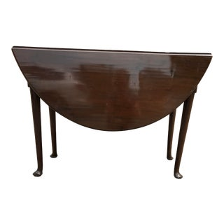 Late 19th Century American Queen Anne Mahogany Drop Leaf Table For Sale