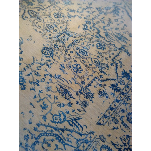 """Erased Hand-Knotted Luxury Rug - 7'11"""" X 9'10"""" - Image 8 of 9"""