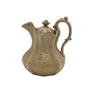 Antique Copeland Drabware Ice Water Jug - C. 1850 For Sale