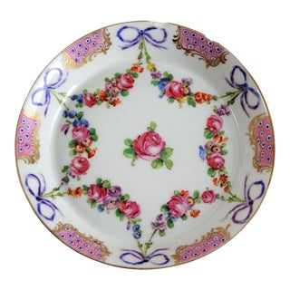 Antique Decorative Small French Porcelain Plate For Sale