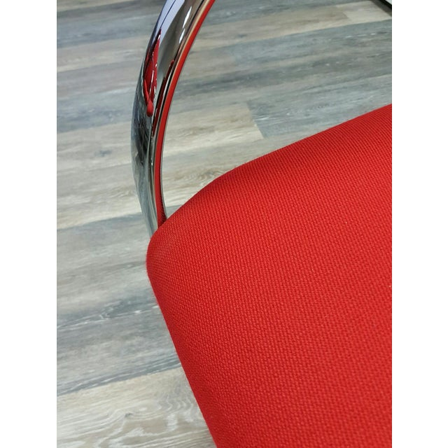Curvilinear Chrome Chairs - Set of 6 - Image 5 of 9