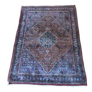 1960s Vintage Persian Bidjar Rug - 3′10″ x 5′2″ For Sale