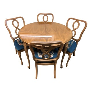 Vintage Herald Furniture Traditional Style Dining Set For Sale