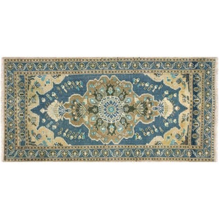 "1960s Turkish Oushak Yastik - 2'1"" X 4' For Sale"