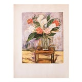 Image of 1950s Maurice Utrillo, Flower Still Life Period First Edition Lithograph For Sale