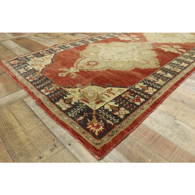 Vintage Turkish Oushak Runner - 03'08 X 11'01 For Sale In Dallas - Image 6 of 10