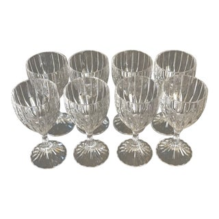Crystal Wine Goblets - Set of 8