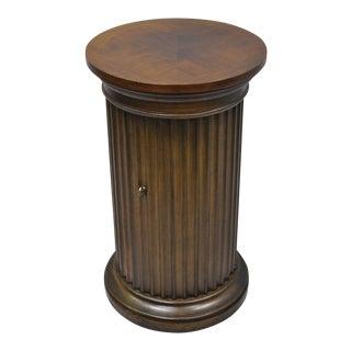 Vintage Drexel DI Moda Fluted Column Pedestal Plant Stand Cabinet For Sale