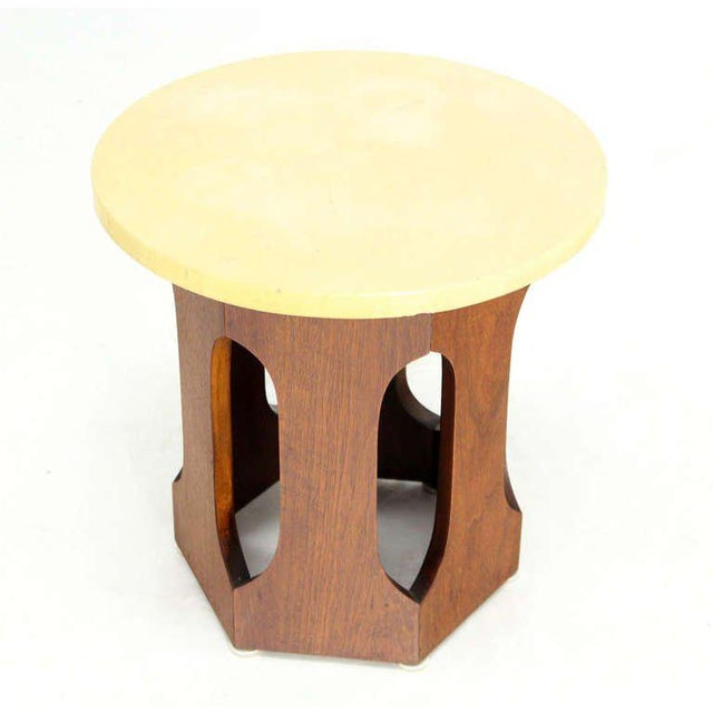 Mid-Century Modern Walnut Side Table For Sale - Image 4 of 4