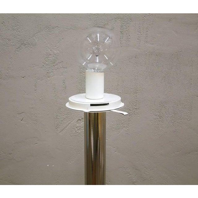 1960s Mazzega Style Tubular Chrome and Murano Glass Floor Lamp - Image 8 of 9
