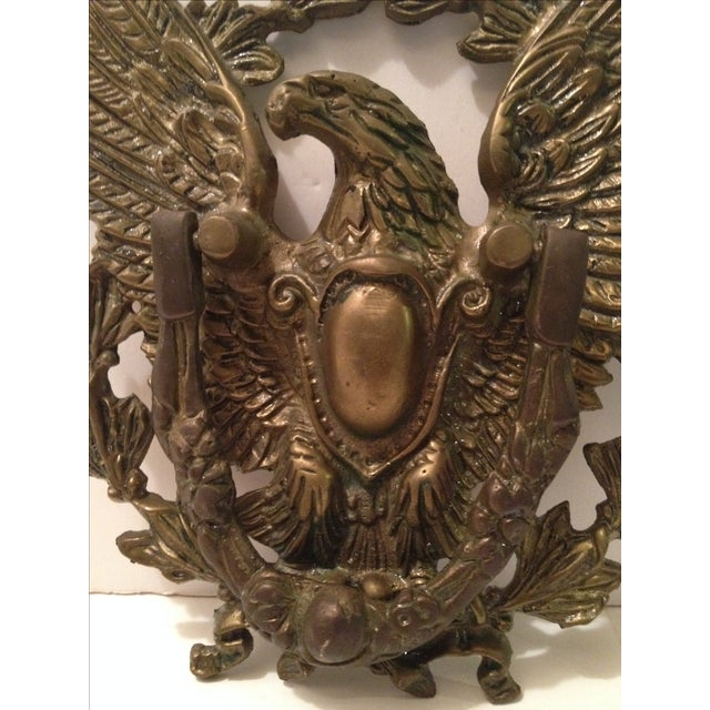 Eagle Door Knocker with Crest Plate For Sale - Image 4 of 4