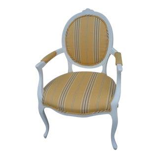 1970s Vintage Ralph Lauren Fabric Yellow Armchair For Sale