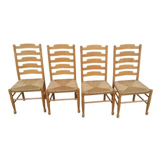 1990s Vintage Italian Ladder Back Chairs-Set of 4 For Sale
