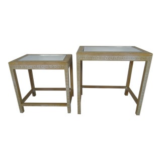 20th Century Chinese Wood Step Tables - a Pair For Sale