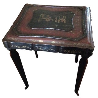 Antique Chinoiserie Lacquered Table
