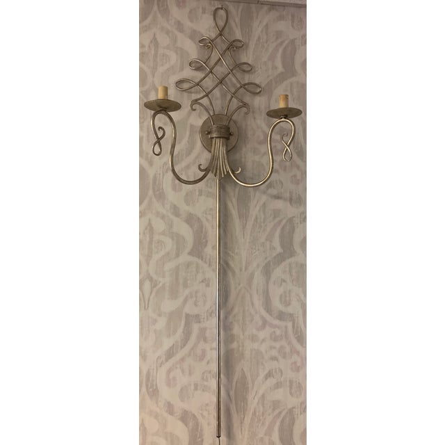 Traditional Currey & Company Regiment Wall Sconce For Sale - Image 3 of 3