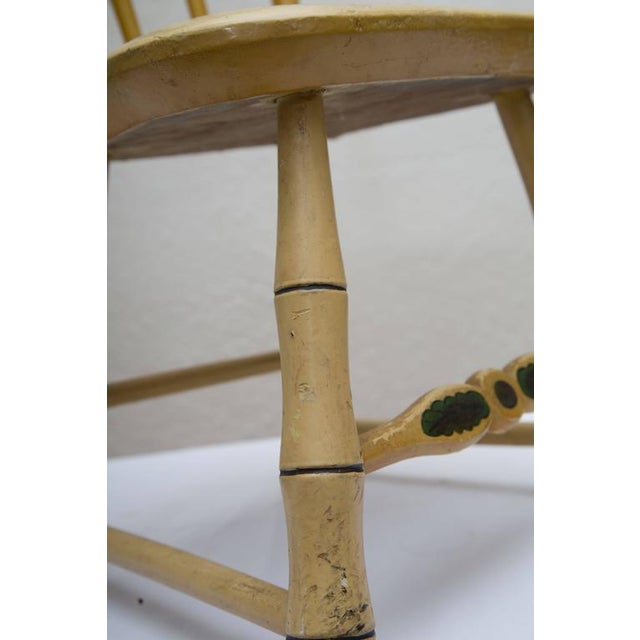 Wood 19th Century Carved and Stenciled Childs Chair For Sale - Image 7 of 9