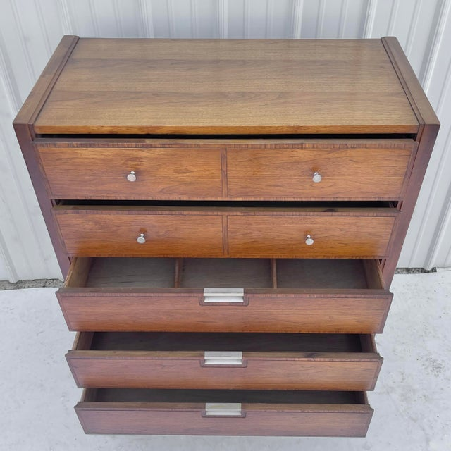 Mid-Century Highboy Dresser From Basic-Witz For Sale - Image 4 of 13