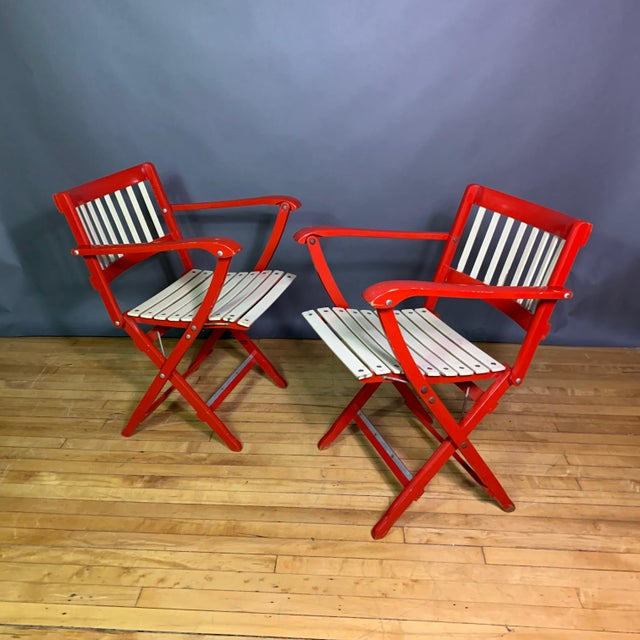 Pair Fratelli Reguitti Lacquered Folding Chair, Italy 1960s For Sale - Image 13 of 13