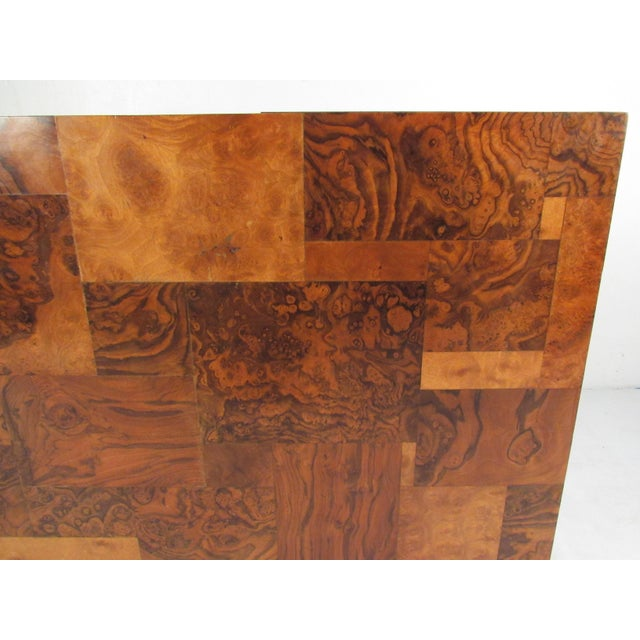 "Burlwood Paul Evans ""Cityscape"" Burlwood Executive Desk For Sale - Image 7 of 13"