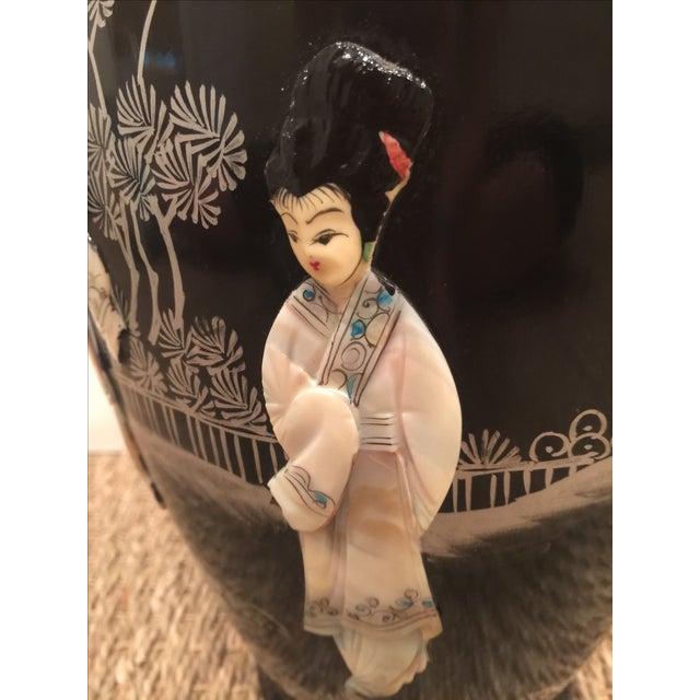 Chinoiserie Mid Century Mod Asian Vase - Image 4 of 8