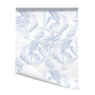 """Victoria Larson Stay Wild Wallpaper - Blue - 48x198"""" For Sale"""