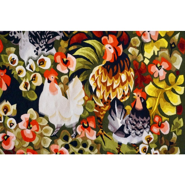 Mediterranean Handwoven French Tapestry by Henri Ilhe For Sale - Image 3 of 9