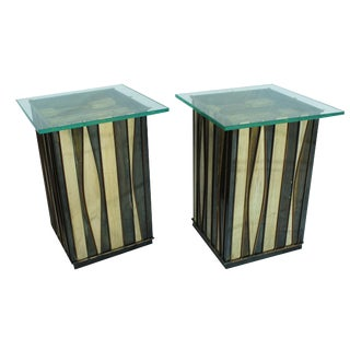 1960s Brutalist Curtis Jere Side Tables - a Pair For Sale