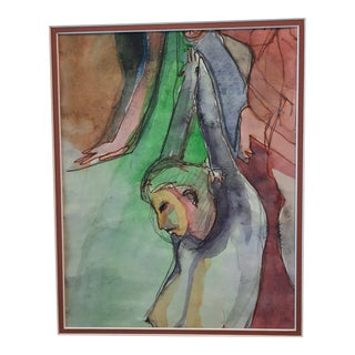 Figurative Watercolor Painting For Sale
