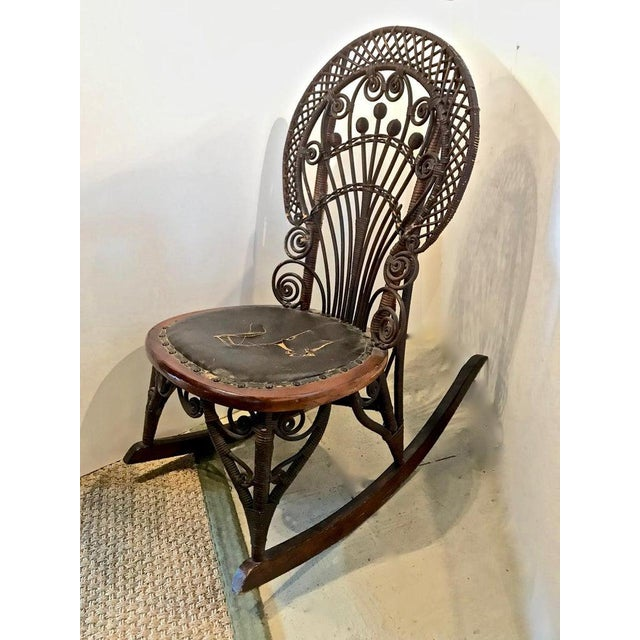 Aesthetic Movement Heywood Wakefield Rocking Chair For Sale - Image 3 of 10