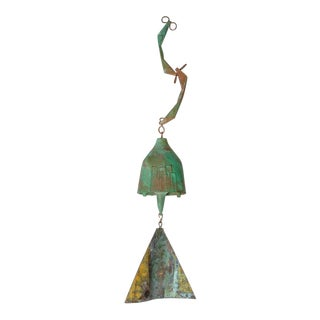 Mid-Century Modern Bronze Wind Chime by Paolo Soleri For Sale