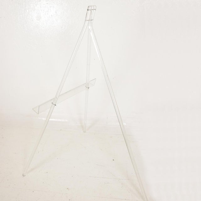 Transparent Mid-Century Modern Lucite Easel For Sale - Image 8 of 9