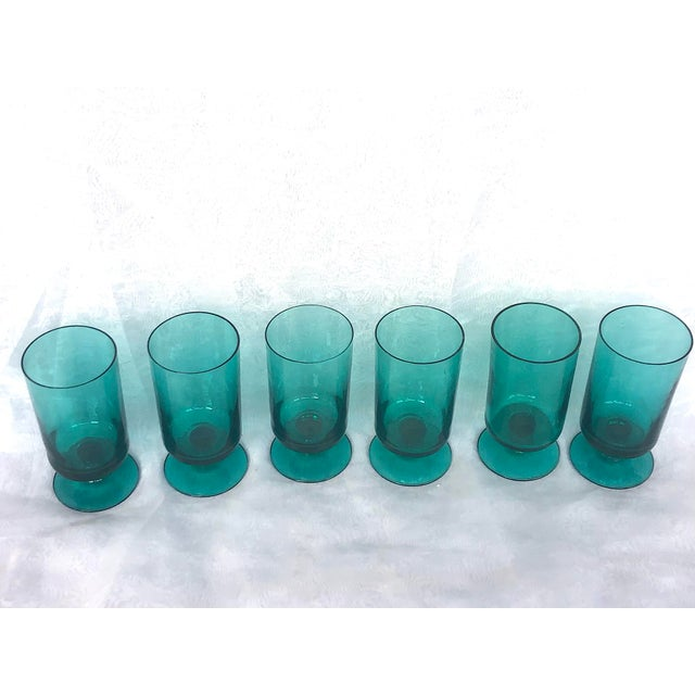 1950s 1950s Hand-Blown Swedish Juice Glasses- Set of 6 For Sale - Image 5 of 13