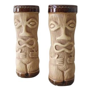 2 Paul Marshall Pmp Peanut Tiki Mugs Mid Century Japan For Sale