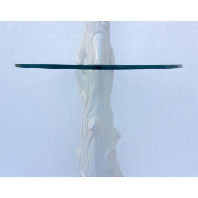 Mid-Century Porcelain Faux-Bois Floor Lamp - Image 6 of 11