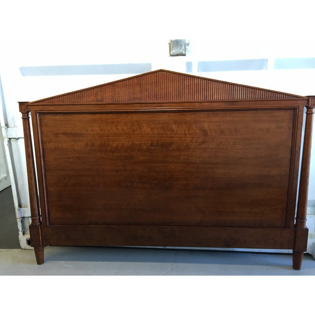 Beautifully grained solid Cherry Wood with Walnut Finish. Headboard will accommodate Queen OR King Bed Frame Original...